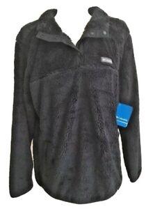 Columbia Women's Black Fleece Pullover Coat Jacket Plus Size 1X  MSR $90