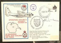 1975 Scott Base Antarctic New Zealand First Day Cover 40 Squadron Air Force