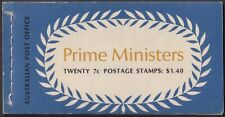 Australia #514a-517a Mnh Prime Ministers booklet 1972 cv $14