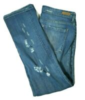 BLANKNYC Womens Mid Rise Straight Leg Jeans DISTRESSED Medium Wash Size 31 (12)