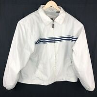 Vintage Timberland Mens Large Cream Windbreaker Retro 90s Jacket Coat
