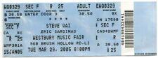 Steve Vai Westbury Ny complete concert ticket 2005 oiriginal