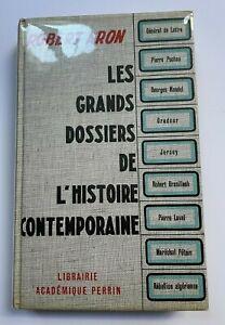 ROBERT ARON 1962 Les Grands Dossiers De L'histoire Contemporaine ENVOI AUTEUR