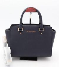NWT MICHAEL Michael Kors Selma Blue Saffiano Leather Satchel Crossbody Bag $298