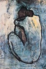 PICASSO - BLUE NUDE POSTER - 24x36 ART PRINT 626