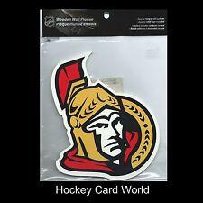 "(HCW) Ottawa Senators Wooden Wall Plaque 7.5""x6.5"" NHL Licensed - Hang Anywhere"