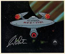 Star Trek Filmation U.S.S. Enterprise Seri-Cel 1995 - Signed by William Shatner