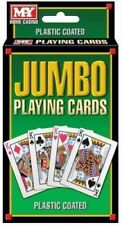 Jumbo Playing Cards 2 x PACK Plastic Coated Jumbo Playing Cards