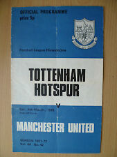 Football League Division One 1972-TOTTENHAM HOTSPUR v MANCHESTER UNITED, 4 March