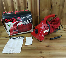 Royal Dirt Devil Handy 150 HandheldVacuum cleaner Hoover Boxed Attachment Red