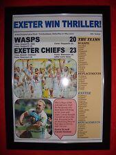 Wasps 20 Exeter Chiefs 23 - 2017 Aviva Premiership final - framed print