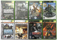 ORIGINAL XBOX GAME LOT 8x HALO 2 SWAT GHOST RECON CLANCY'S SPLINTER CELL HONOR
