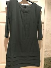 VERO MODA DRESS GRAY SLATE PARTY GOING OUT WEDDING SIZE 40  UK 12 LOVELY FABRIC