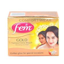Fem GOLD Bleach Lightening Fairness face Mask Cream Whitening GOLDEN GLOW