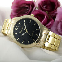 Fashion Women Ladies Watch Geneva Stainless Steel Quartz Analog Dial Wrist Watch