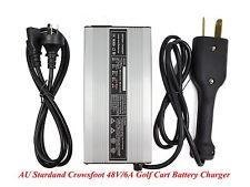 New Crowsfoot 48V/6A Golf Cart Battery Charger Star Club Car DS EZgo TXT Yamaha
