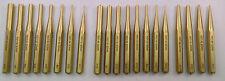 20pc Gunsmith Brass Pin Punch, Tapered Punch & Gun Care Roll Pin Punch USA Made