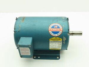 "Baldor M3218T Electric Motor 5 HP 230/460V 3 PH 1725 RPM 184T 1 1/8"" Shaft"