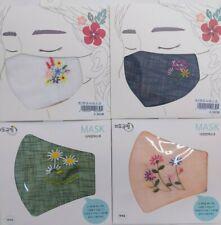 Handmade Mask Embroidery Ramie Cloth, Korea Premium Fabric Cool Mask, Prevention
