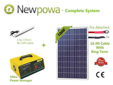 100W Solar Panel + 500W Inverter Controller AC DC RV Battery Charger Kit System