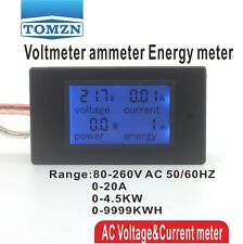 LCD 4IN1 display Voltage current active power energy meter 0-20A 80-260V 50/60HZ