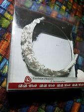 NEW Beaded White Wedding Headpiece CROWN Pearl Flower silk BREATHTAKING