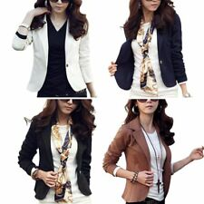 Fashion Women's Casual One Button Business Blazer Suit Jacket Coat Outwear Tops