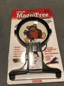 Carson MagniFree Hands-Free Magnifier #HF-15, New & Factory Sealed