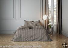 Mistral Home Bettwäsche Satin Stripe walnut 2 x 80x80 + 1 x 200x200cm
