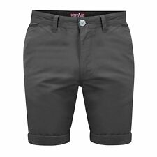 """Mens Chino Shorts Casual 100 Cotton Cargo Combat Half Pant Summer Jeans Charcoal 34"""" Waist"""