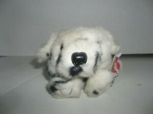"""swibco puffkins cinder dalmatian puppy dog plush with tags 4"""" tall"""