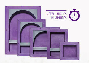EZ-NICHES USA Ready Tile ez-Niche Recess Bathroom Recessed Shower Shampoo Shelf