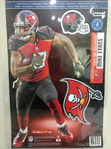 """MIKE EVANS TAMPA BAY BUCCANEERS 4 PIECE FATHEAD 11""""X17"""" WALL GRAPHIC DECALS"""
