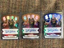 Lot (3) TYLER CAVANAUGH 2017-18 Panini Crown Royale AUTO 1 blue /25 + 2 /199
