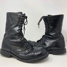 VTG Carolina Mens Black Leather Cap Toe Riding Boots Size 10 W Side Zip USA Made