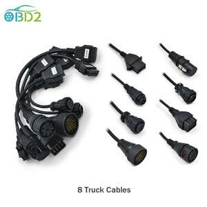 8 Truck Cables Set OBD2 Adapter Diagnostic Tool For Benz OBDII Auto Connector