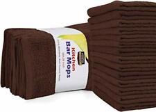 "12 Kitchen Bar Mop Towels Cleaning Towels 16x19"" Cotton Utopia Towels"