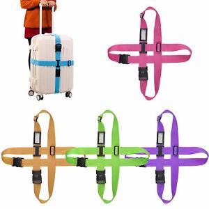 Suitcase Luggage Baggage Adjustable Straps Lock Combination Tie Belt Down Travel