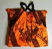 HFC Men 2XL Blaze Orange Insulated Bib Overalls Lined Hunting Outdoor Gear Camo