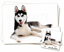 Black Husky 'Love You Dad' Twin 2x Placemats+2x Coasters Set in Gift B, DAD-52PC