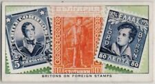 Famous Britishmen Portrayed On Postage Stamps Of Other Nations 1930s Ad Card