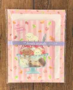 Letter Sheet Envelope Dog Strawberry Sweets Animals Set Stationery Japanese