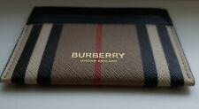 Burberry Card Case New 100% Authentic Leather Icon Checkered Pattern RRP 200$