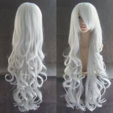 """32"""" Women Long Curly Wavy Hair Wig Fashion Costume Party Anime Cosplay white"""
