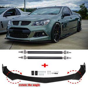 For Holden VE & VF Commodore Front Bumper Lip Splitter Spoiler + Strut Rods Bar