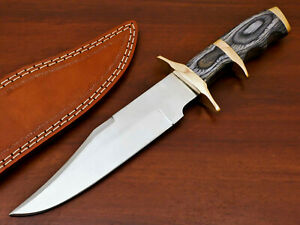 HAND FORGED STAINLESS STEEL HUNTING KNIFE-HARD WOOD HANDLE - SUB HILT - PK-1967