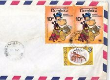 BT103 1980 Dominica DISNEY ISSUES Commercial Use Air Mail Cover