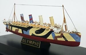 Gilbow 1/1750 Scale E10005 RMS Olympic White Star Line model Ship, Plinth & Case