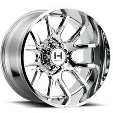 "4ea 20x10"" Hostile Wheels H113 Rage Armor Plated Chrome Off Road Rims(S2)"