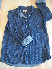 J. Crew Embroidered Dot Boy Shirt Womens Size 10